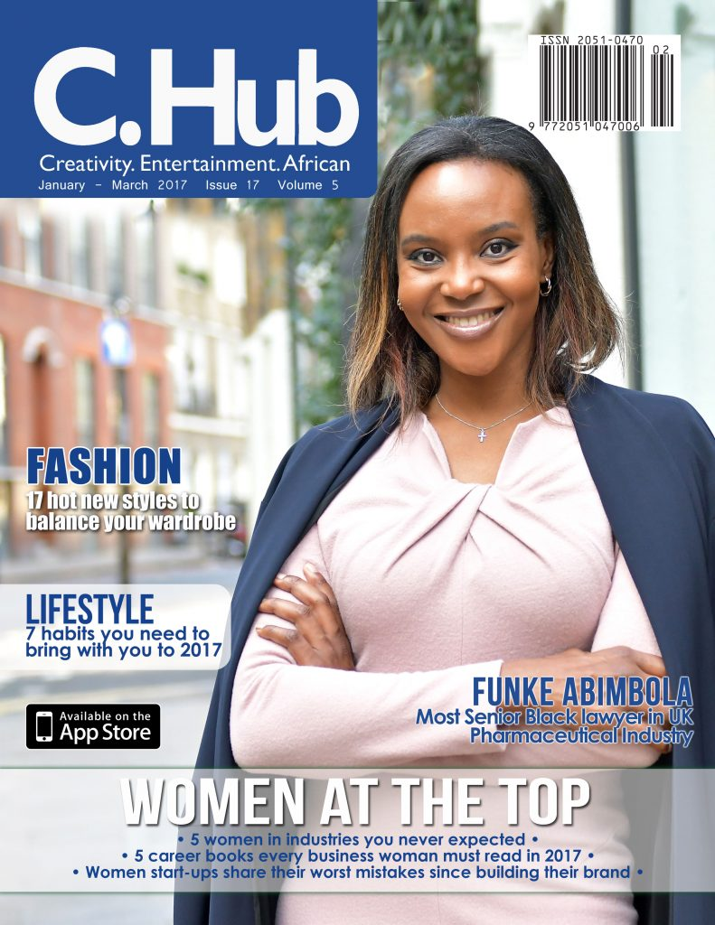 Funke Abimbola on C. Hub magazine cover