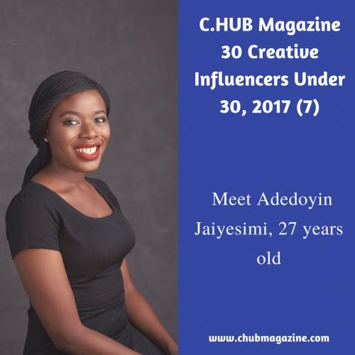 Meet Adedoyin Jaiyesimi, 27 years old
