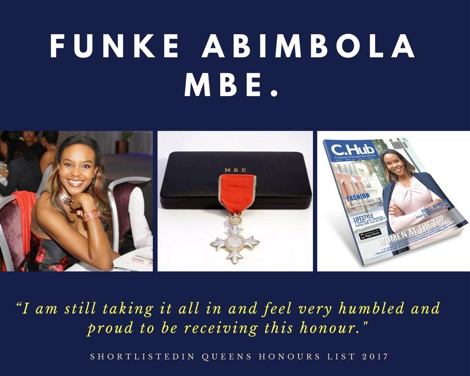 Funke Abimbola MBE.