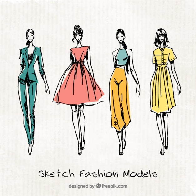 Fashion Illustrations with Different Styles