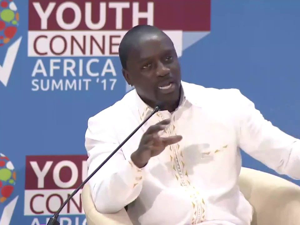 Singer Akon in Rwanda Younth summit.