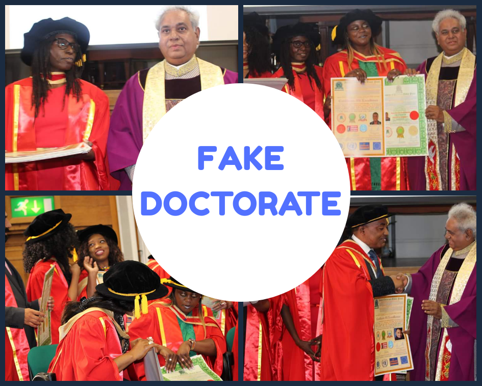 outrage as fake honorary doctorate is bought and sold among africans